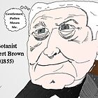 Botanist Robert Brown caricature in motion by BinaryOptions