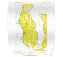 USGS Topo Map Washington State WA Freeland 241214 1953 24000 Poster