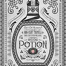 Legend of Zelda Red Potion Geek Line Artly by barrettbiggers