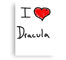 i love Halloween Dracula  Canvas Print