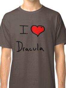 i love Halloween Dracula  Classic T-Shirt