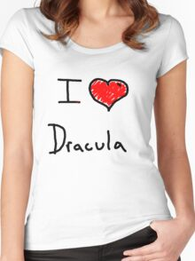 i love Halloween Dracula  Women's Fitted Scoop T-Shirt