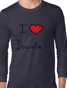 i love Halloween Dracula  Long Sleeve T-Shirt