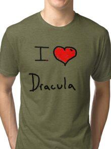 i love Halloween Dracula  Tri-blend T-Shirt