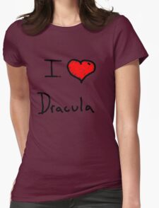 i love Halloween Dracula  Womens Fitted T-Shirt