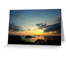Scenic view during sunset Greeting Card