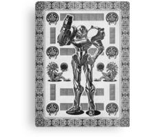 Metroid Samus Aran Geek Line Artly Metal Print