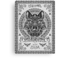Legend of Zelda Twilight Princess Wolf Link Line Artly  Canvas Print