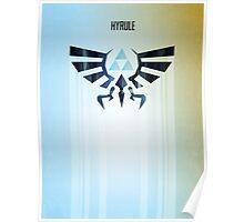 Legend of Zelda Hyrule Rising Minimal Vector Poster  Poster