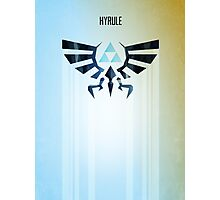 Legend of Zelda Hyrule Rising Minimal Vector Poster  Photographic Print