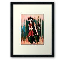 Mari Makinami Evangelion Anime Tra Digital Painting  Framed Print