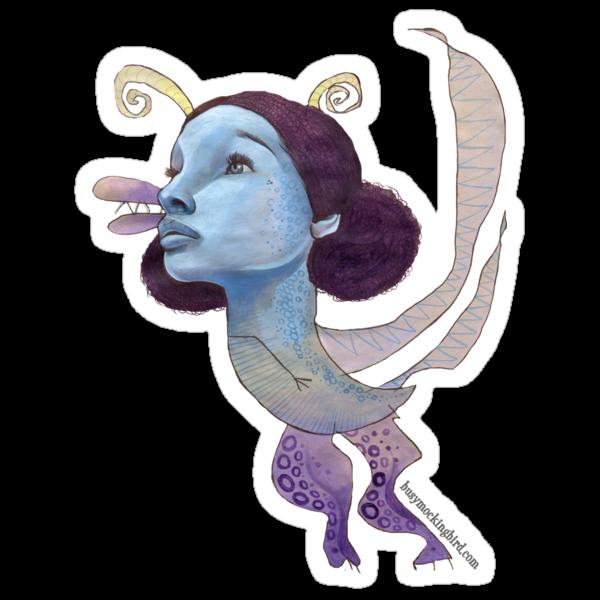 Blue Dragon by busymockingbird