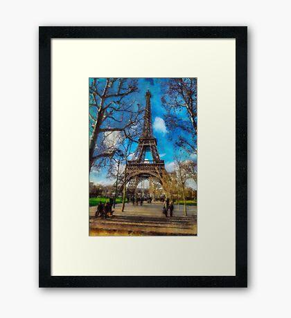 Eiffel Tower in January Framed Print