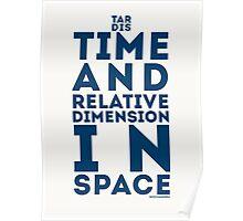 TARDIS shape Poster