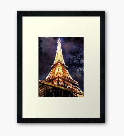 Eiffel Tower Night 2 Framed Print