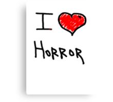 i love halloween horror  Canvas Print