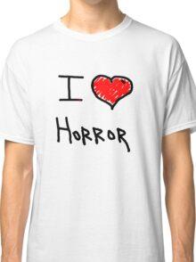 i love halloween horror  Classic T-Shirt