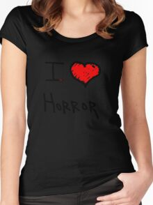 i love halloween horror  Women's Fitted Scoop T-Shirt