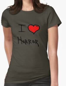i love halloween horror  Womens Fitted T-Shirt