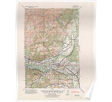 USGS Topo Map Washington State WA Gate 241254 1941 62500 Poster