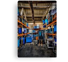 Condition Blue V Canvas Print