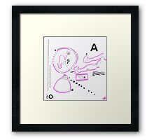 Night Drawings #80 - A -  Breast & Nude again  Framed Print