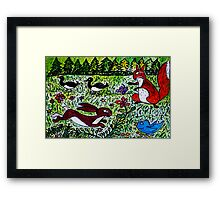 The Squirrel and The Rabbit Framed Print