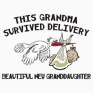 """New Granddaughter """"This New Grandma Survived Delivery..."""" by FamilyT-Shirts"""