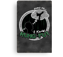 I Know Kung-Fu Canvas Print