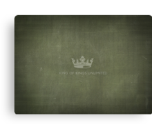 King of Kings Label Canvas Print