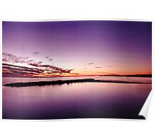 Pink Sunset Seascape Poster