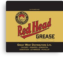 Red Head Grease Can Label Reproduction Canvas Print