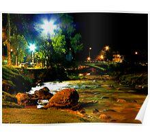 Night Light on the Rio Tomebamba Poster