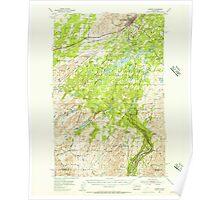 USGS Topo Map Washington State WA Cheney 240455 1954 62500 Poster