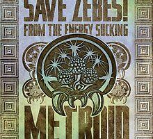 Metroid Propaganda Geek Line Artly  by barrettbiggers