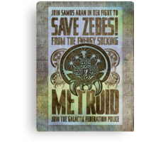 Metroid Propaganda Geek Line Artly  Canvas Print