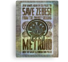 Metroid Propaganda Geek Line Artly  Canvas Print