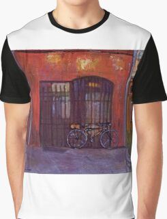 Waiting, L'Isle Sur la Sorgue, Provence Graphic T-Shirt