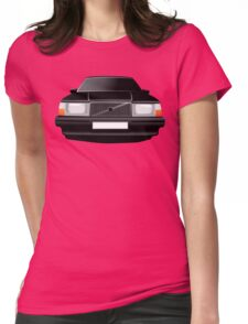Volvo 740 black Womens Fitted T-Shirt