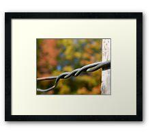 Twisted Framed Print