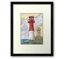 Cape Spencer Lighthouse NB Canada Chart Cathy Peek Framed Print
