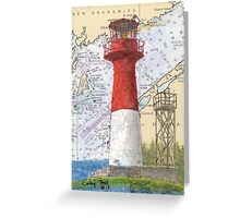 Cape Spencer Lighthouse NB Canada Chart Cathy Peek Greeting Card