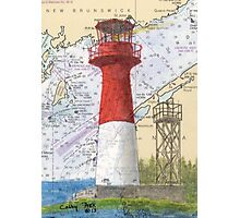 Cape Spencer Lighthouse NB Canada Chart Cathy Peek Photographic Print