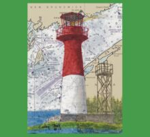 Cape Spencer Lighthouse NB Canada Chart Cathy Peek One Piece - Short Sleeve