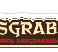 Assgrabber: Nerdy Assgrabbing Game Sticker