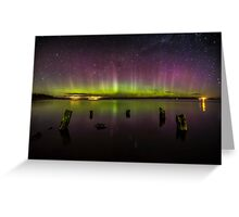 Aurora Australis - New Zealand Greeting Card