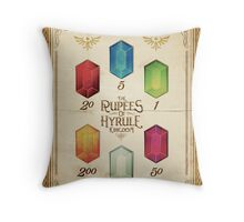 Legend of Zelda The Rupees Geek Line Artly Throw Pillow