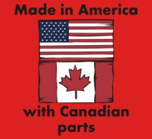 Made In America With Canadian Parts Baby Tee