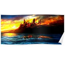 deathly hallows hogwarts Poster