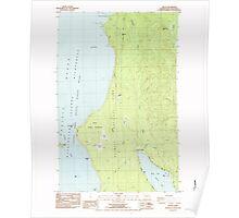 USGS Topo Map Washington State WA Ozette 243053 1984 24000 Poster